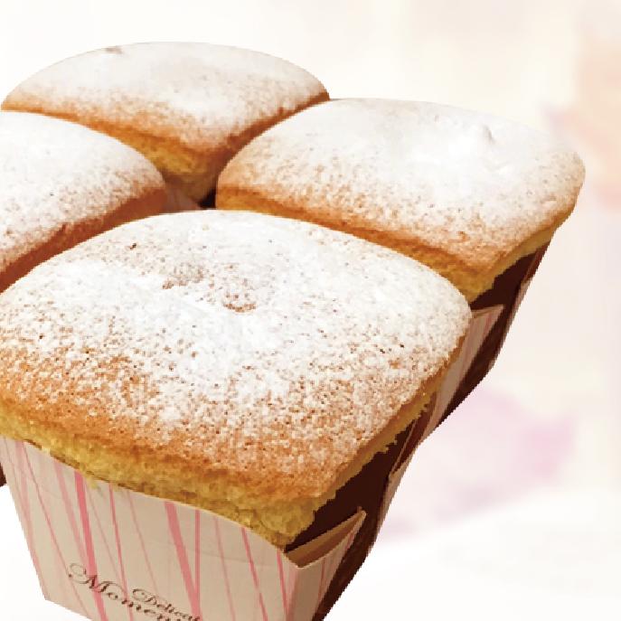 【麵包空間】北海道戚風蛋糕杯 (四入)