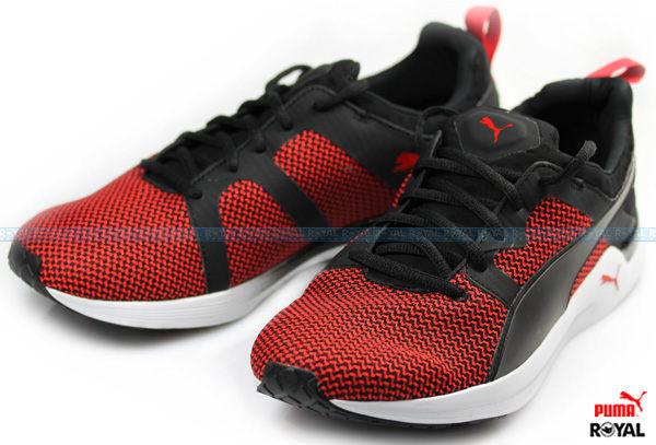 PUMA 新竹皇家 Pulse Xt Mens 黑/紅 布質 皮質 休閒慢跑鞋 男款 NO.A6480