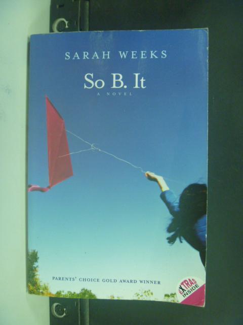 【書寶二手書T6/原文小說_HMN】So B. It_Weeks, Sarah