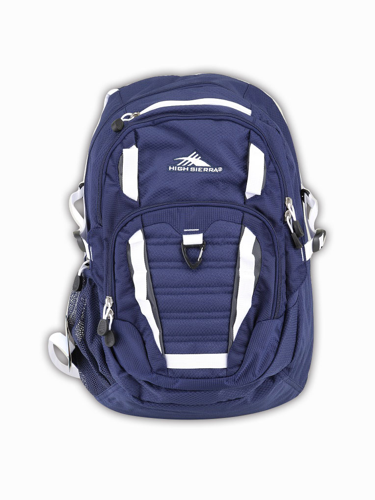 HIGH SIERRA美國戶外運動用品-時尚休閑背包-大容量男女運動雙肩背包-新秀麗Samsonite副牌 - 藍銀白-禾雅
