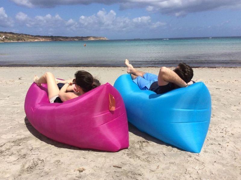 現貨秒發!!!歐美流行懶人免充氣沙發!!!便攜式沙發!!戶外露營,郊遊戲水必備!!!!充氣沙發床!