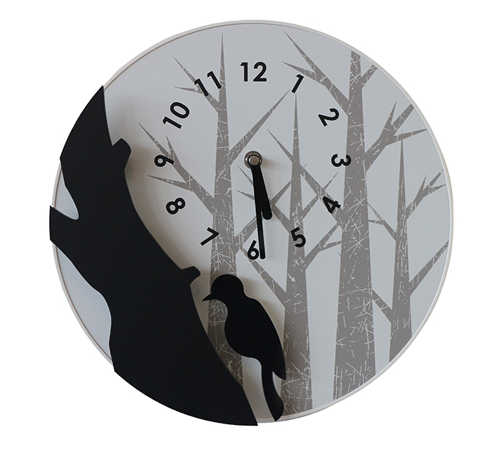 【尚品傢俱】※自運價※ Q-414-17 啄木鳥造型鐘/造型時計/壁掛鐘/藝術飾鐘/美術時刻鐘/時鐘/Clock