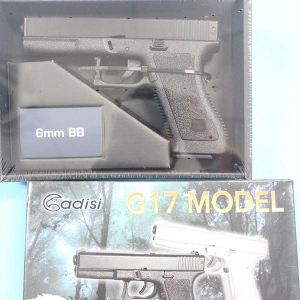 台灣製空氣BB槍 AD-215 BB槍 HA117 G17加重型玩具槍(黑色)/一支入{促600}~佳19HA-117