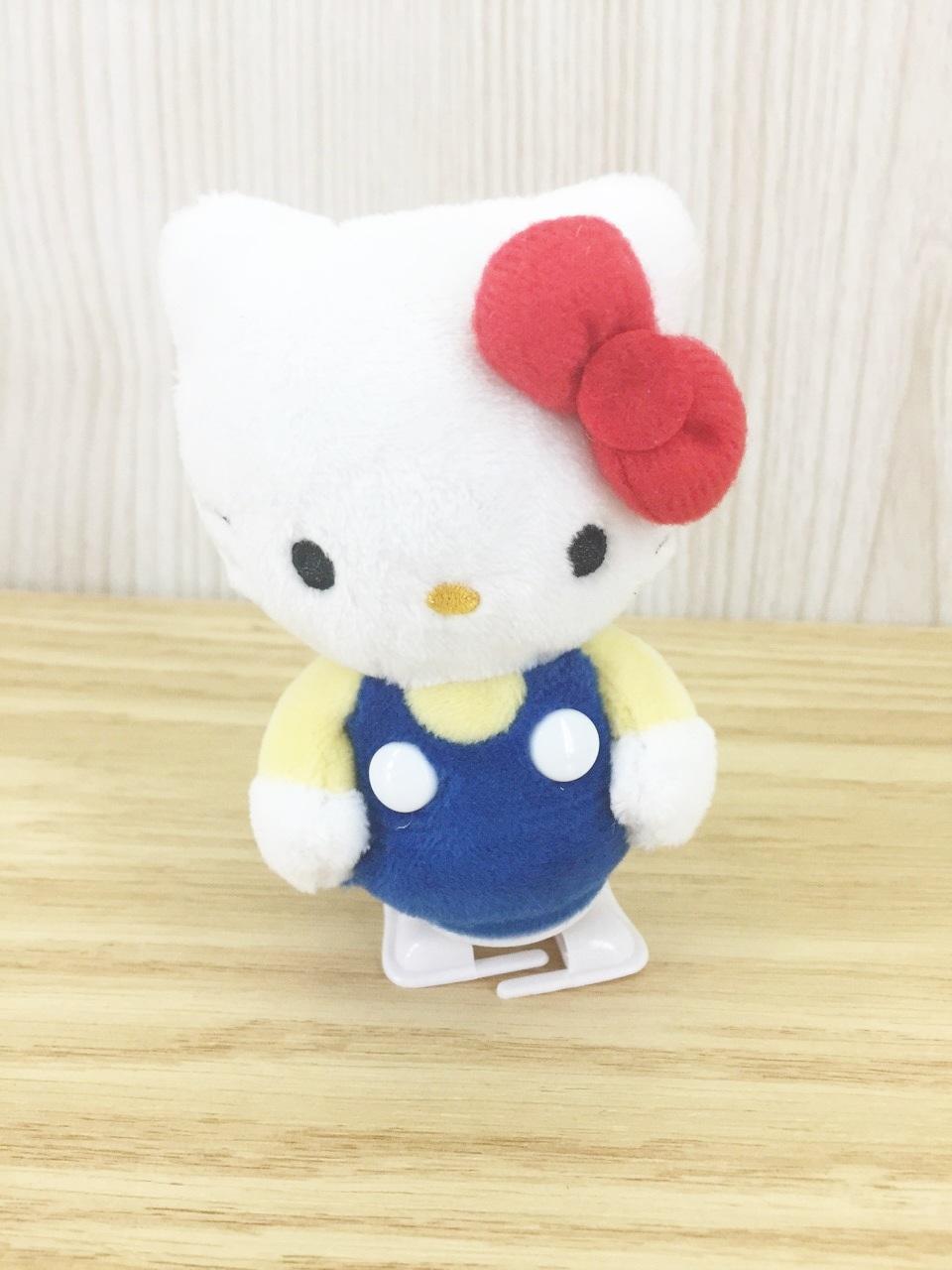 【真愛日本】15121400003 發條走路娃-KT藍衣 三麗鷗 Hello Kitty 凱蒂貓 走路娃 娃娃 玩具