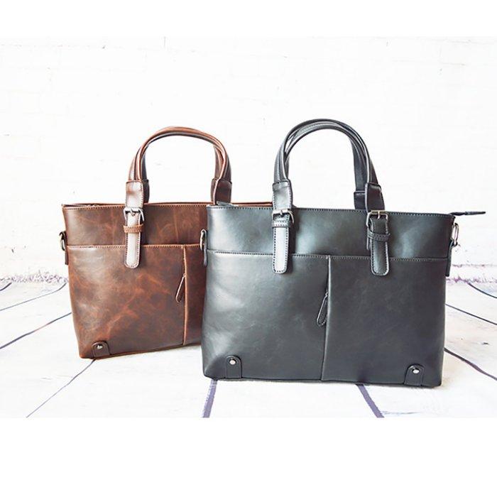 【當日出貨】韓國空運 2015年 新款百搭復古純色公事包 時尚 手提包 電腦包 公事包 單肩包 ROCK-MOOD 501-880
