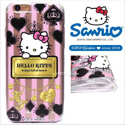 官方授權 三麗鷗 Sanrio Hello Kitty 浮雕 彩繪 iPhone 6 6S Plus Note5 Z5 Z5P A5 A7 A9 手機殼 軟殼 巴洛克蕾絲【D0220180】