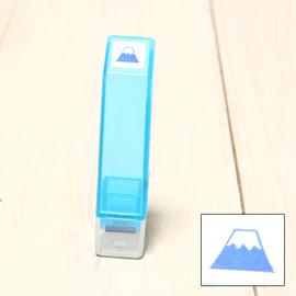 「Kodomo小孩牌」手帳小印章 - 340富士山(藍)