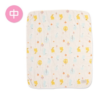 【淘氣寶寶】奇哥 Joie 快樂森林六層紗布被(中:90x110 公分) 六層紗布、透氣排汗、無螢光劑 TLC601000【奇哥正品】