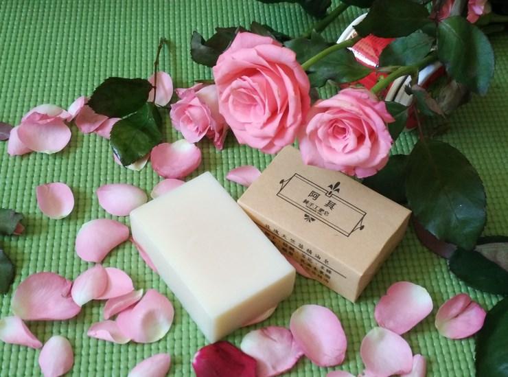 玫瑰天竺葵精油手工皂 100公克±5g