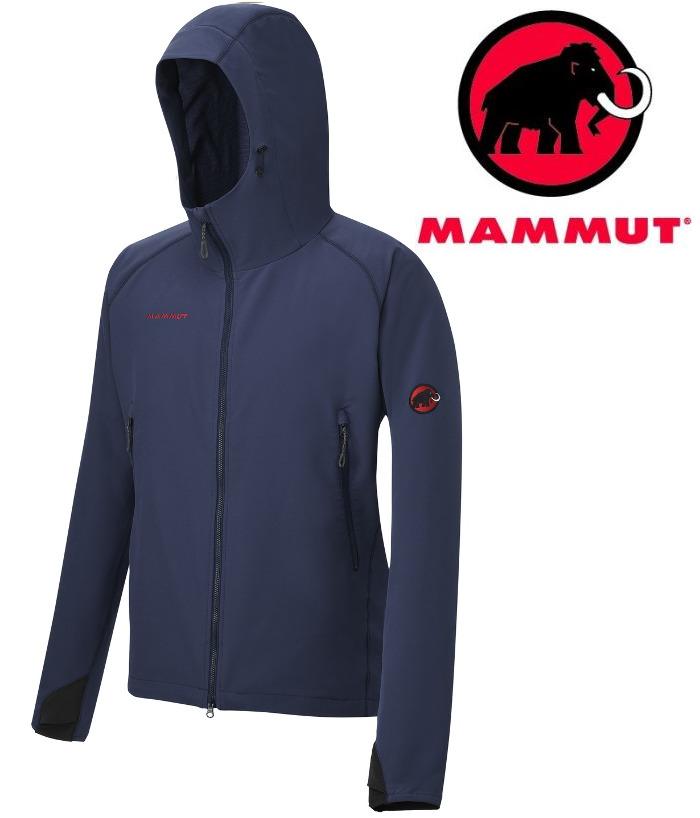 Mammut 長毛象軟殼外套/薄軟殼衣/登山風衣 SOFtech CLIMB Light Hooded 男款1010-23000 5118海洋藍