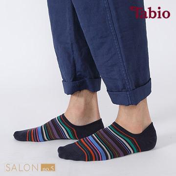 靴下屋Tabio 男款彩色條紋棉質船襪 / 隱形襪