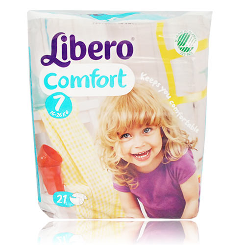 ★衛立兒生活館★麗貝樂 Libero 嬰兒紙尿褲XXXL 7號-21片x8包(尿布)