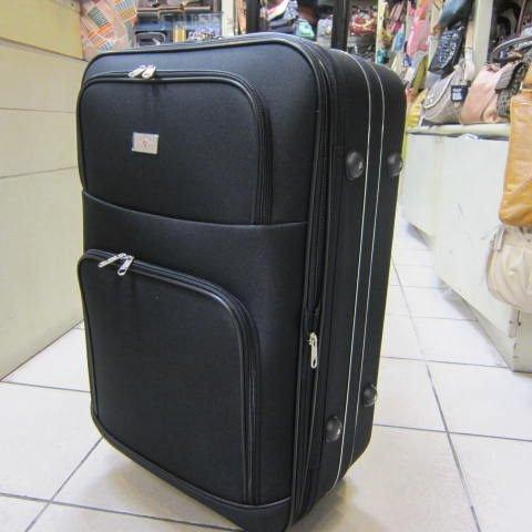 ~雪黛屋~LIAN YIN 17吋 登機行李箱 加大容量 雙輪設計 超輕防水硬式邊殼 輕巧平穩 LY168B黑