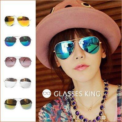 眼鏡王☆現貨!雷朋金屬帥氣反光鏡片太陽眼鏡墨鏡水銀咖啡色橘色銀色金色藍色紫色S70