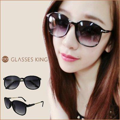 眼鏡王☆金屬T字大框橢圓框正韓國正妹復古造型程又青少女時代墨鏡太陽眼鏡黑色S133