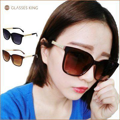 眼鏡王☆金屬奢華裝飾華麗復古大框方框正妹明星風墨鏡太陽眼鏡正韓國夏日海灘黑色咖啡S196