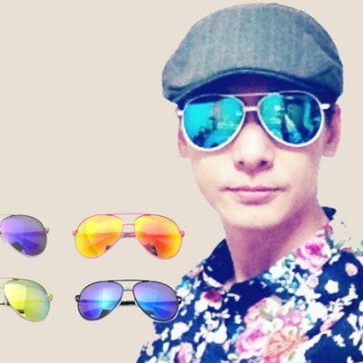眼鏡王☆現貨!大框雷朋金屬帥氣反光鏡片太陽眼鏡墨鏡水銀粉紅銀金藍紫白黑色羅志祥S227