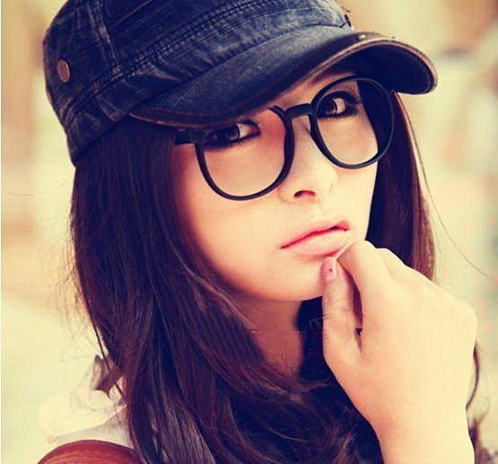 眼鏡王☆時尚韓國人氣大框圓框歐美百搭豹紋復古修飾小臉雜誌款鏡框超大框黑色平光A28