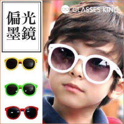 眼鏡王☆偏光墨鏡箭頭復古超圓框太陽眼鏡張柏芝小孩兒童桃紅黃色黑紅粉紅白色K26