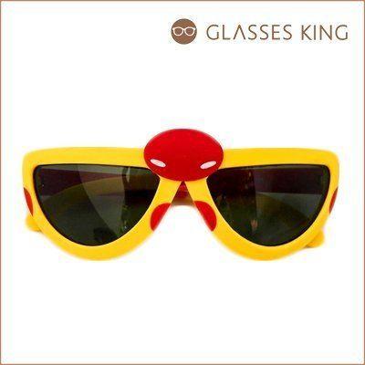 眼鏡王☆小孩兒童偏光太陽眼鏡墨鏡韓國瓢蟲造型可愛折疊黃色粉紅色綠色藍色K25