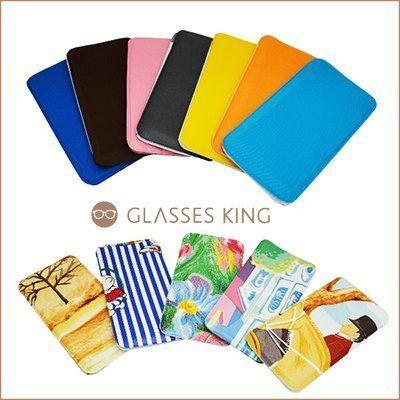 眼鏡王☆眼鏡袋手機袋泡棉袋保護袋收納袋可批發點點格子格紋藍紅素面白黃黑紫條紋花朵