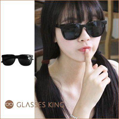 眼鏡王☆韓國少女時代太妍同款金屬邊墨鏡太陽眼鏡方框方形膠框豹紋黑咖啡!S16