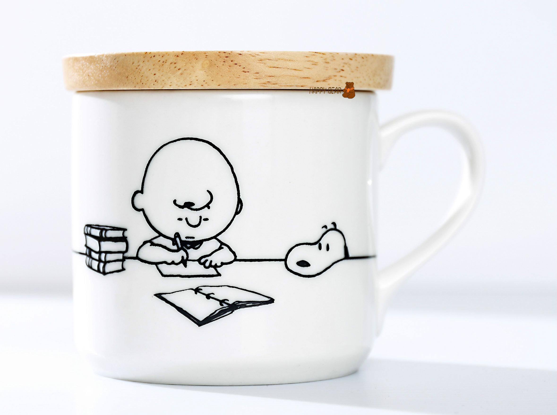 史努比 Peanuts 馬克杯 (附2way木杯蓋) 【快樂熊雜貨舖】