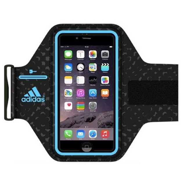 [陽光樂活] 愛迪達 Adidas Griffin iPhone6 4.7吋 運動防水 運動手機臂套 藍/紅 兩色