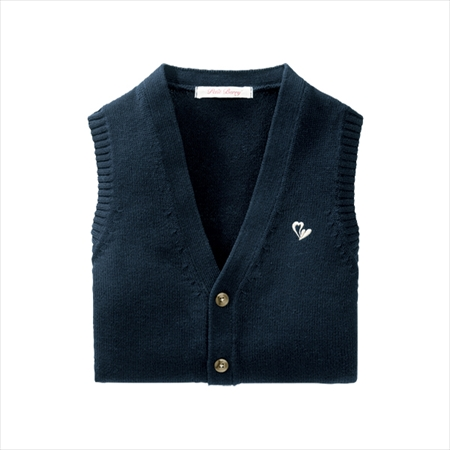日本空運nissen  -女裝-純棉鈕扣背心-深藍色