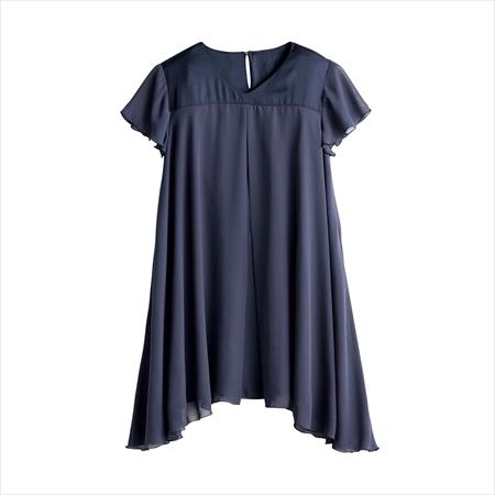 日本空運nissen  -女裝-雪紡拼接長上衣風罩衫-深藍色