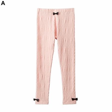 【NISSEN】童裝|繩編圖案內搭褲
