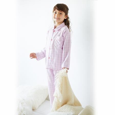 【NISSEN】童裝|熟成3重棉紗附領睡衣