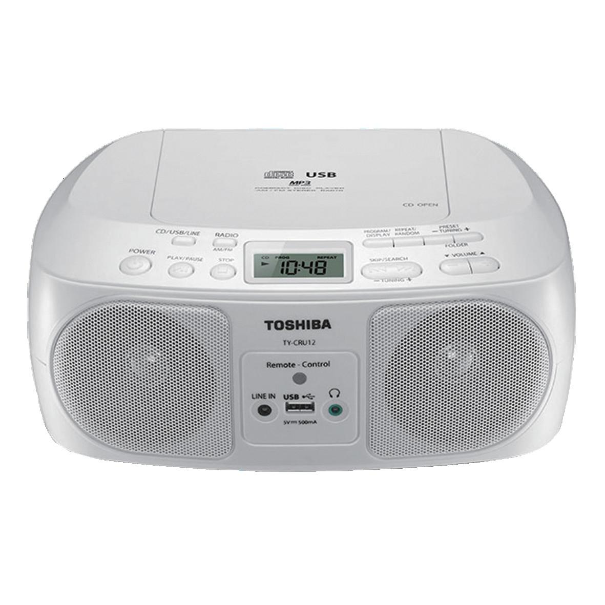 Toshiba 東芝 USB手提CD音響 TY-CRU12TW
