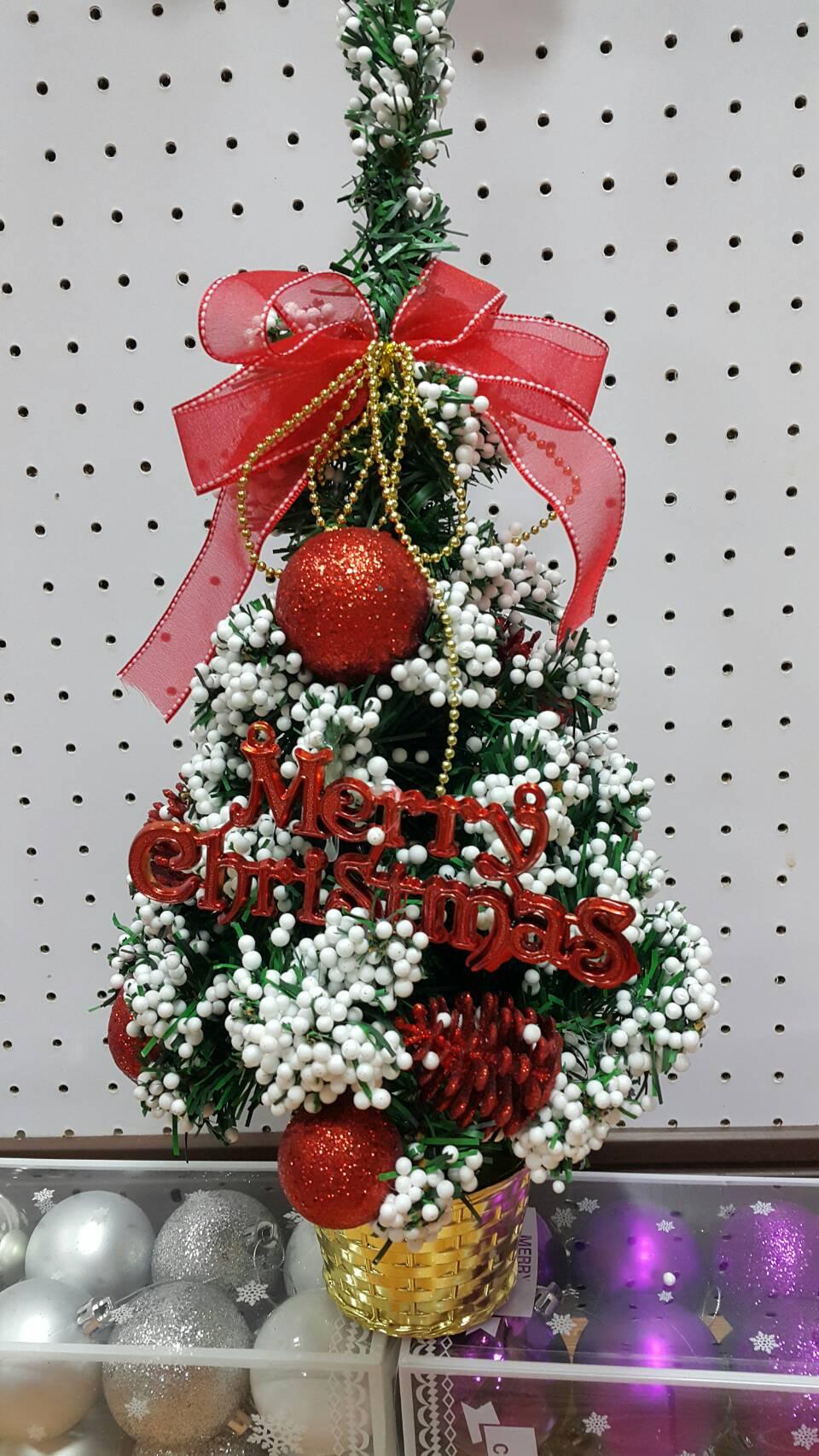 X射線【X392429】35cm雪花裝飾樹(紅),聖誕樹/聖誕佈置/聖誕燈/會場佈置/材料包/成品樹/小樹