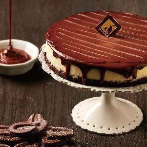 【樂田麵包屋】VALRHONA濃巧起士蛋糕6吋★2016年新作→法國VALRHONA生巧克力淋面,無麵粉蛋糕體空氣感UP↗搭配奶油乳酪慕斯,綿綿柔柔 化口度極佳