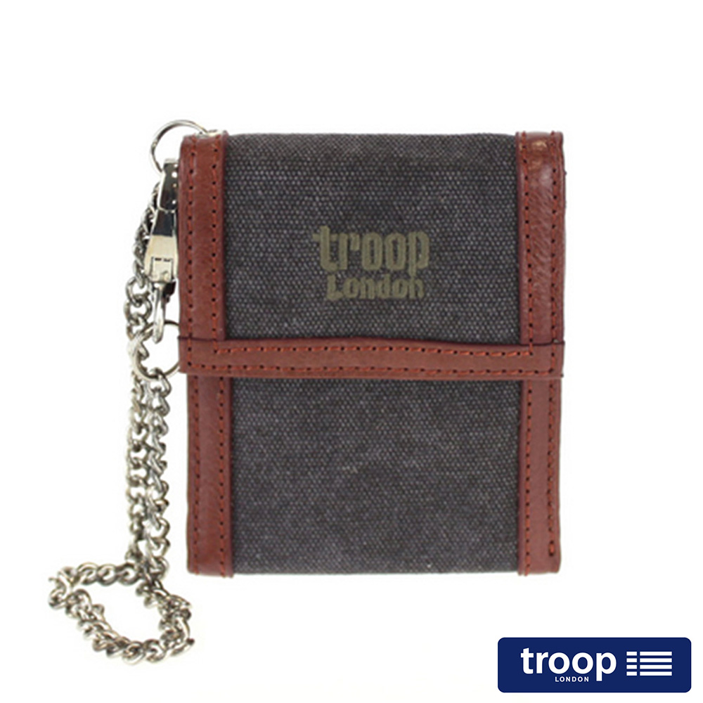 【TROOP】經典品格CLASSIC皮夾、零錢包/TRP0348BK
