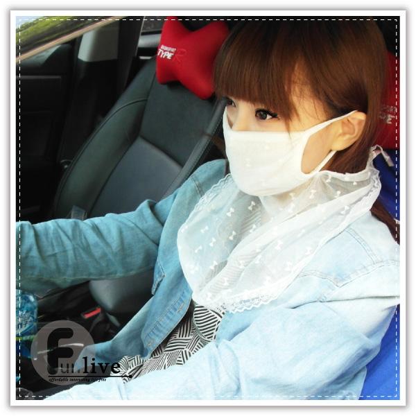 【aife life】蕾絲防曬面罩/透氣蕾絲防曬護頸口罩/紫外線護頸面罩/騎士面罩/機車口罩/防風面罩