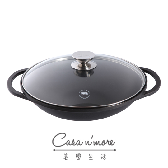 Berndes 德國寶迪鍋 黑鑽中式炒鍋含蓋 32cm  附瀝油架