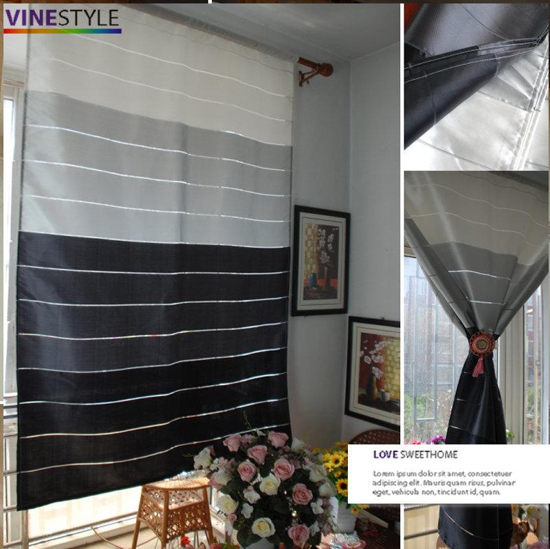 +漸變條紋設計窗簾【寬120*高180cm】 可當窗簾或門簾+
