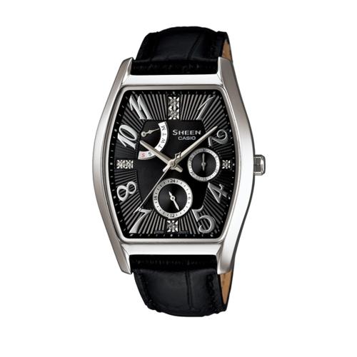 CASIO SHEEN/亮眼酒桶金鑽時尚腕錶/SHE-3026L-7A1