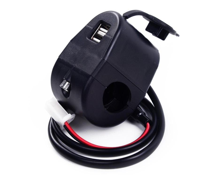 2.1A 防水 雙USB充電座 機車 摩托車 不是機車小U LED 適用SJ4000 行車紀錄器 邊騎邊充 五匹  線組  電壓表