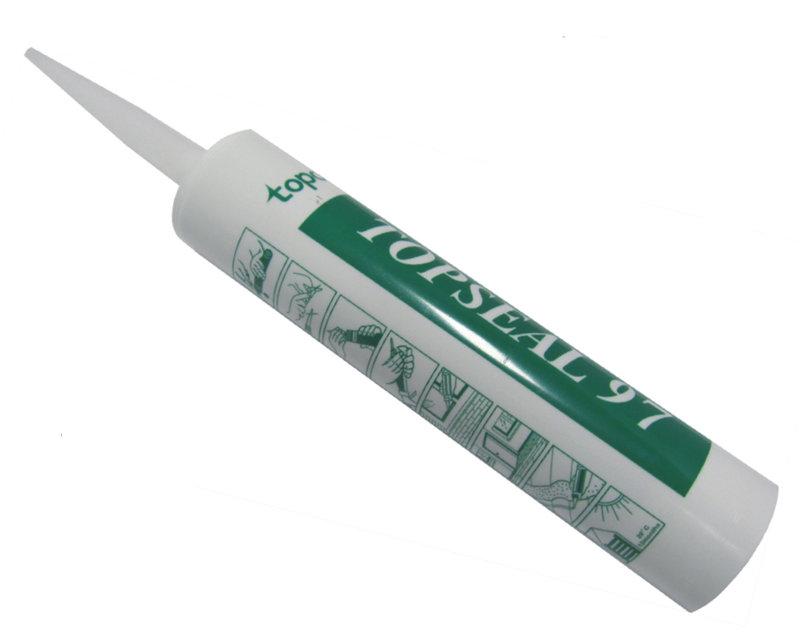 中性矽利康97 topco TOPSEAL 97中性白色 日本信越原料 (300g/支) 崇越電通