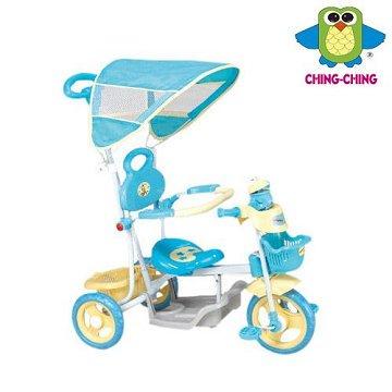 親親 快樂蛙三輪車(藍色、綠色) XG3105GP【德芳保健藥妝】兒童學步車.滑步車.玩具車.碰碰車.助步車