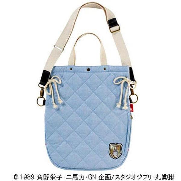 【真愛日本】14072700070 側背手提束口包-森林冒險藍 龍貓 TOTORO 小黑炭 包包 提袋 正品