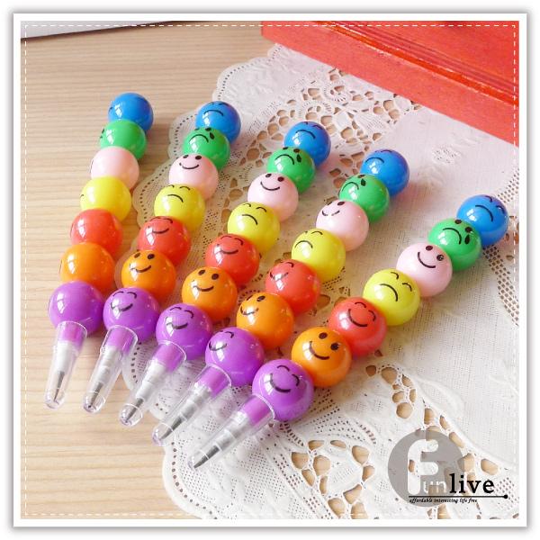 【aife life】表情圓球鉛筆/圓球笑臉鉛筆/糖葫蘆鉛筆/多段式鉛筆/造型鉛筆/免削鉛筆/文具用品