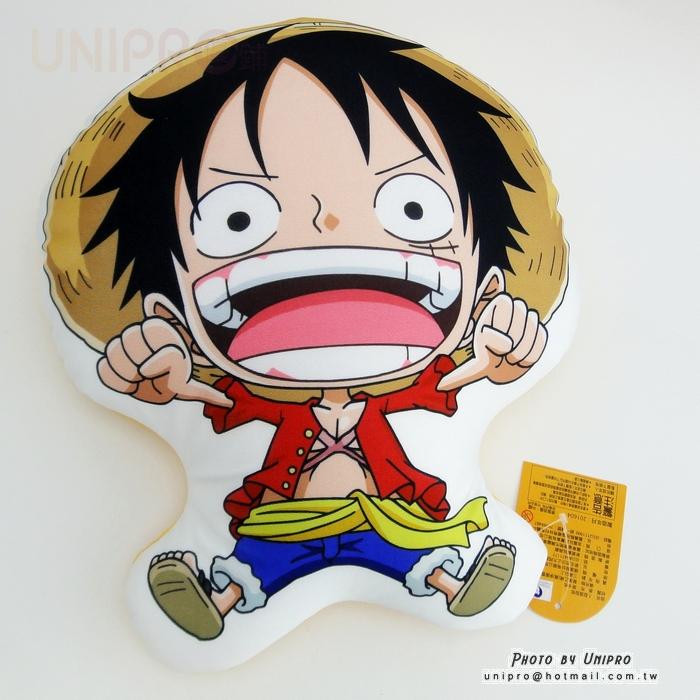 【UNIPRO】 草帽 魯夫 Luffy 人形 萊卡布 抱枕 午安枕 航海王 ONE Piece 海賊王 正版授權