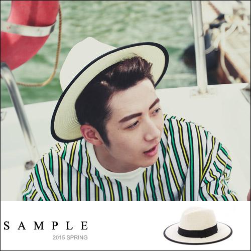 草帽【SA12516】黑色滾邊紳士帽【Sample】
