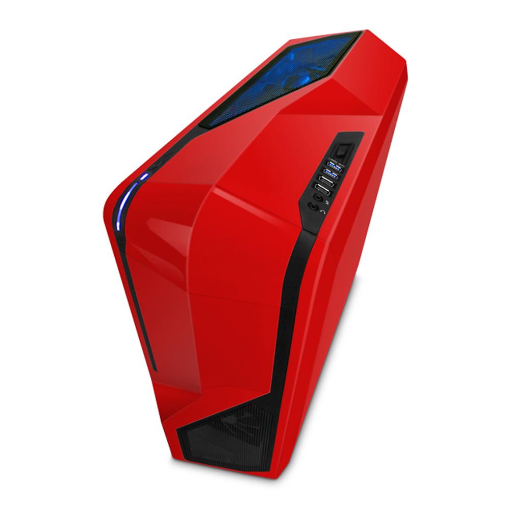 【迪特軍3C】含運 恩傑 NZXT Phantom 410 小幻影410電腦機殼(紅色透側)前置USB3.0