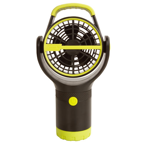 【露營趣】中和 附手電筒 Coleman  BATTERYLOCK杯架風扇/萊姆綠 電風扇 小吊扇 CM-27313