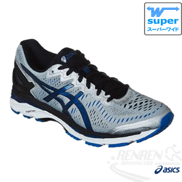 ASICS亞瑟士 GEL-KAYANO 23 4E超寬楦   男高支撐型慢跑鞋  (白*藍)